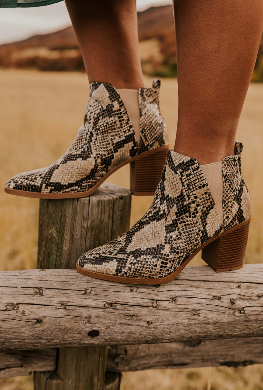 High Fashion Snake Boot Heel | ROOLEE