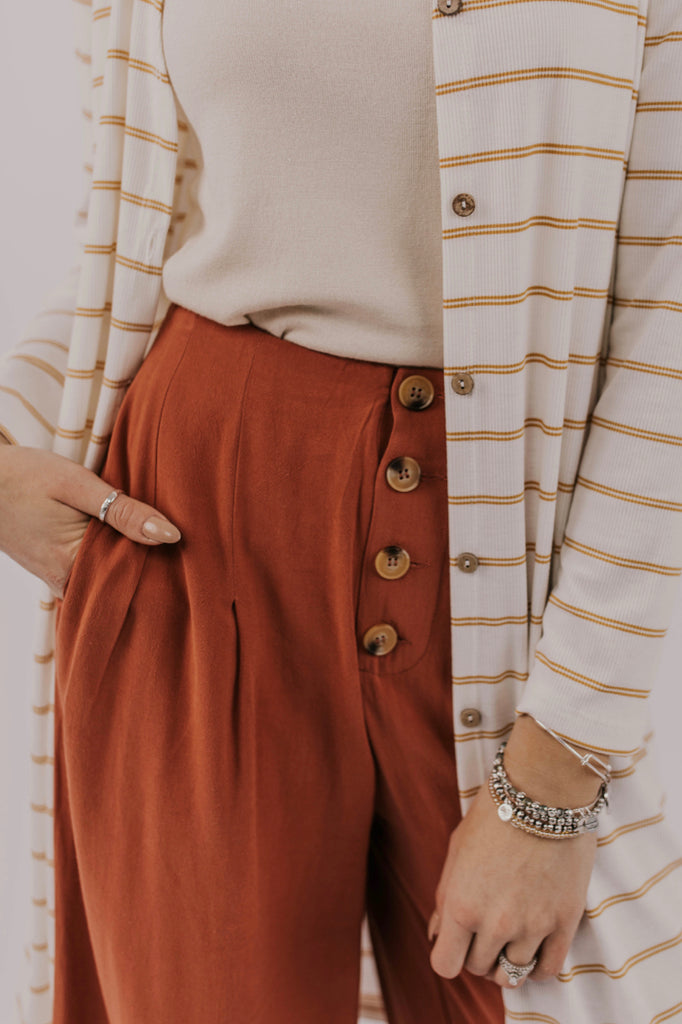 Long Stripe Cardigan Outfit Ideas | ROOLEE