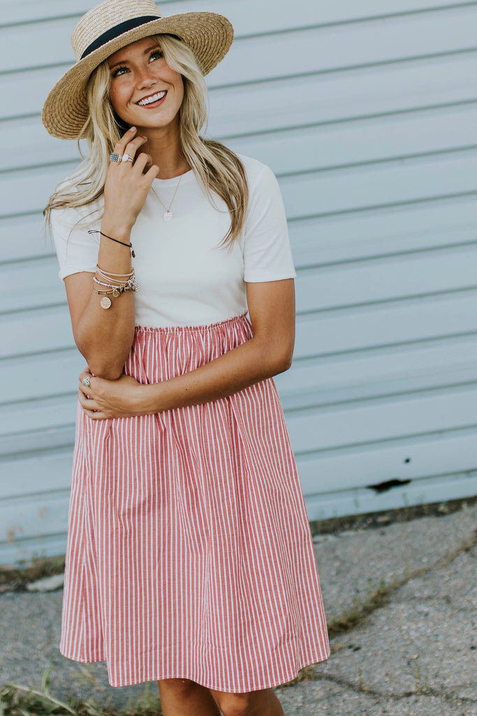 Martha Stripe Dress | ROOLEE