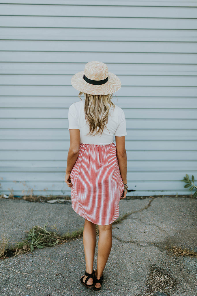 Contrast Stripe Dress | ROOLEE