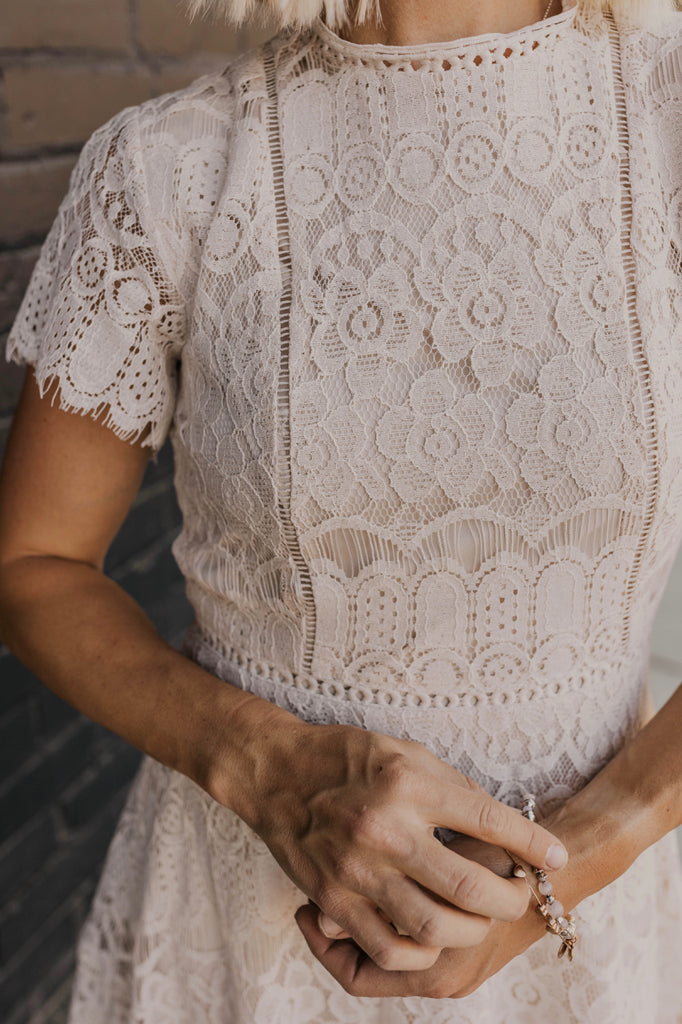 Short Lace Bridesmaids Dress | ROOLEE