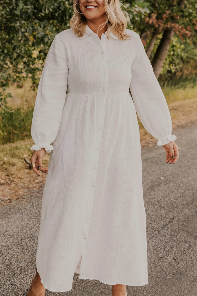 White Maxi Dress | ROOLEE