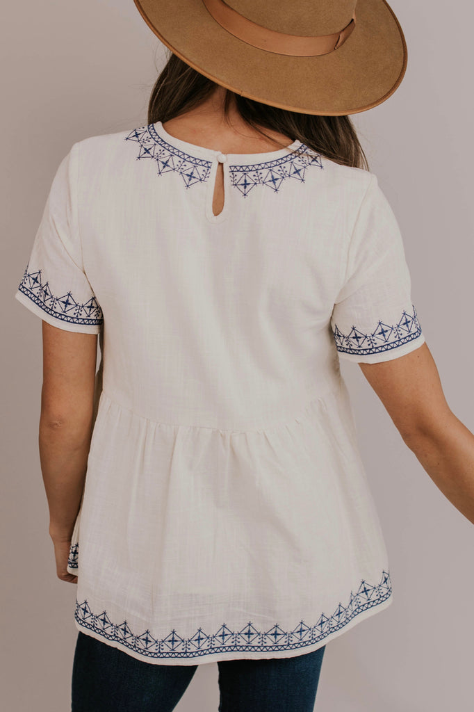 Tribal Embroidered Blouse | ROOLEE