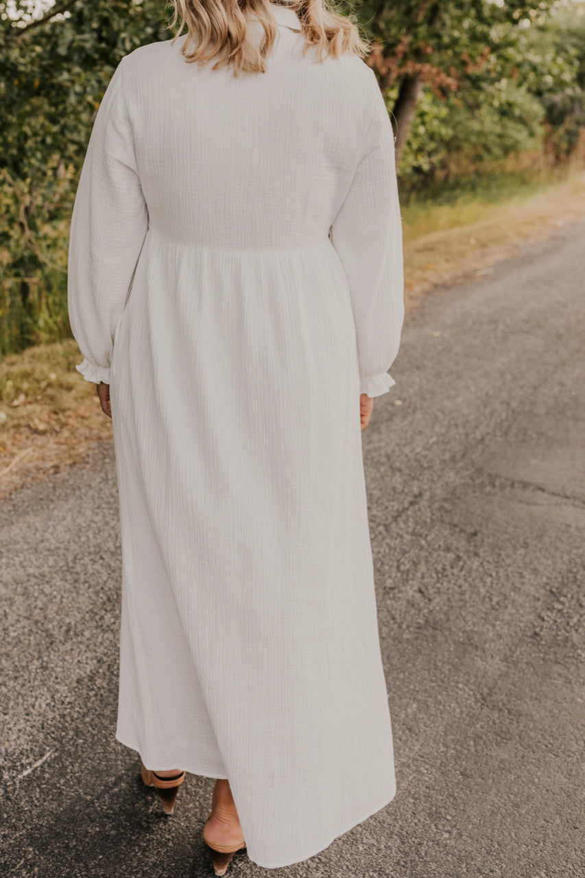 Simple White Dress | ROOLEE