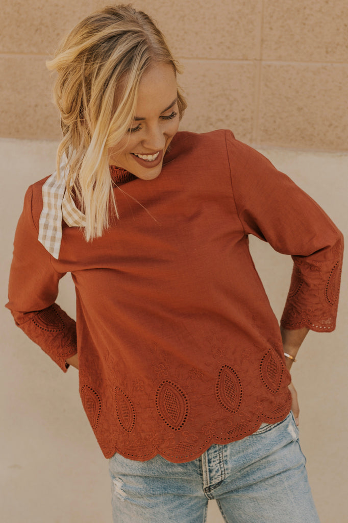 Rust Blouse | ROOLEE