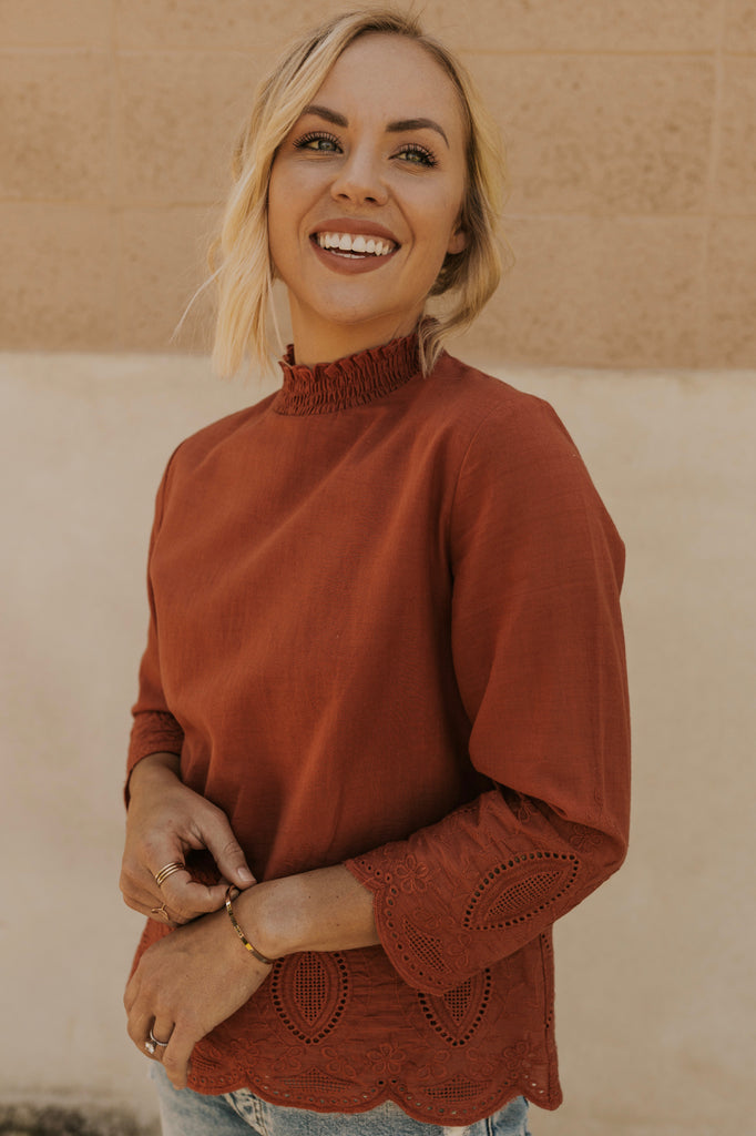 Eyelet Blouse | ROOLEE