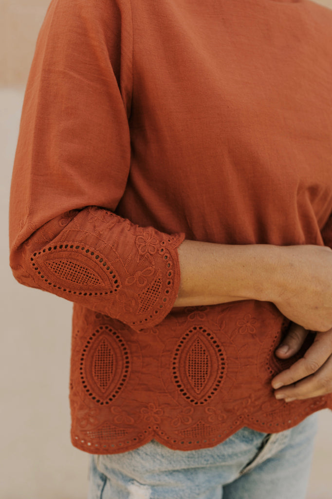 Rust Detail Blouse | ROOLEE