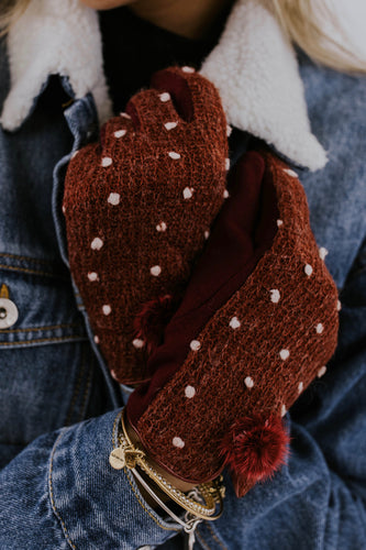 Lumi Knit Gloves in Wine | ROOLEE Accessories