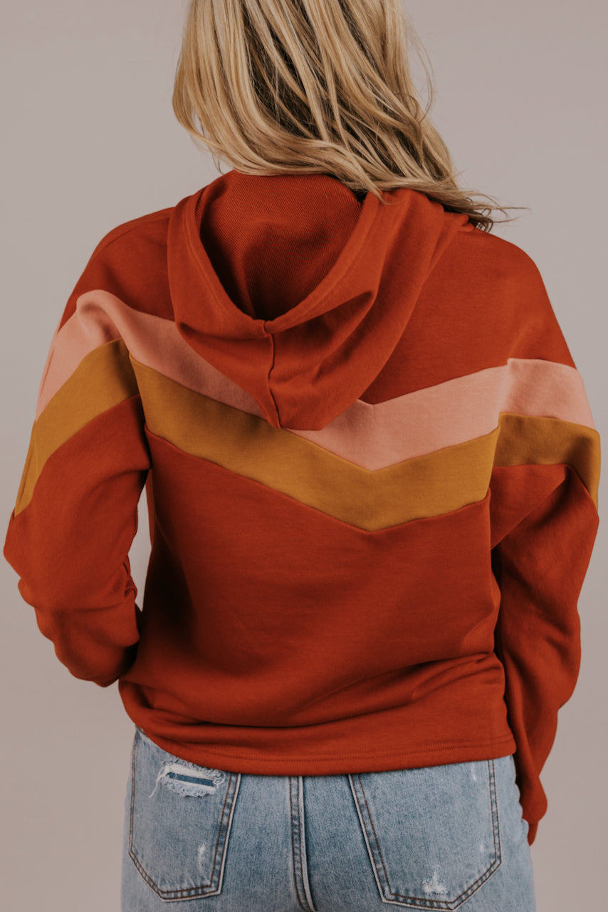 Hooded Long Sleeve Red Sweater | ROOLEE