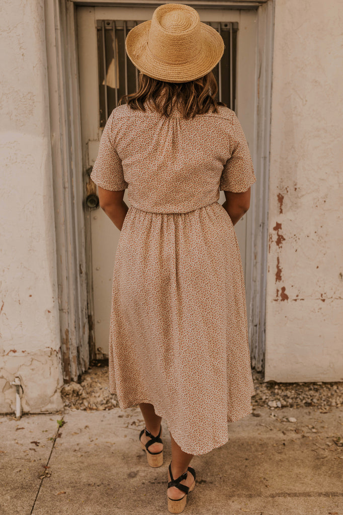 Collared Nursing Friendly Dress | ROOLEE