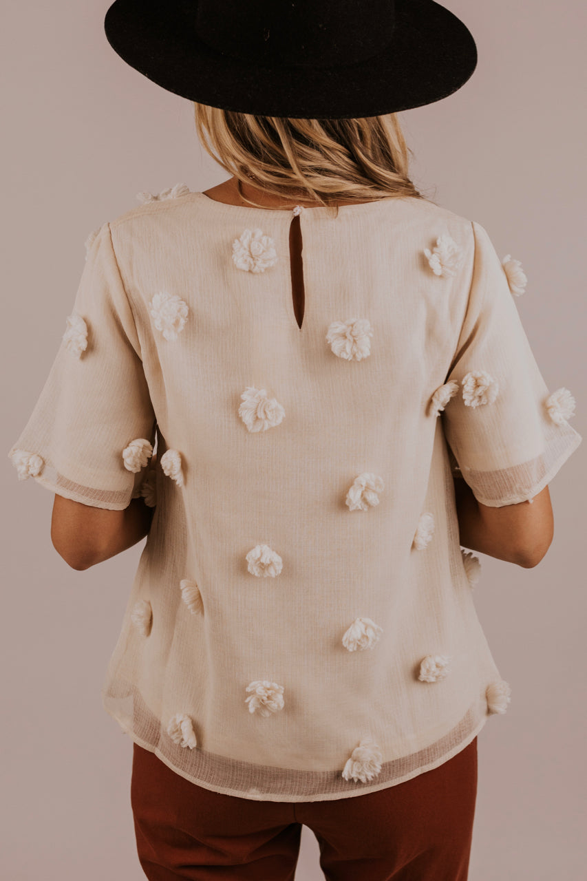 Trendy Cream Blouse for Women | ROOLEE