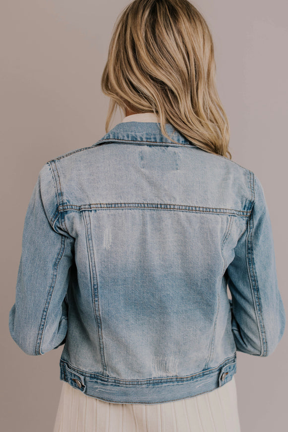 Light Wash Denim Jacket | ROOLEE