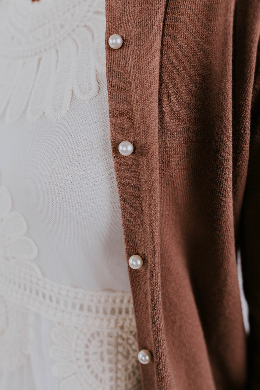 Pearl Buttoned Cardigan | ROOLEE