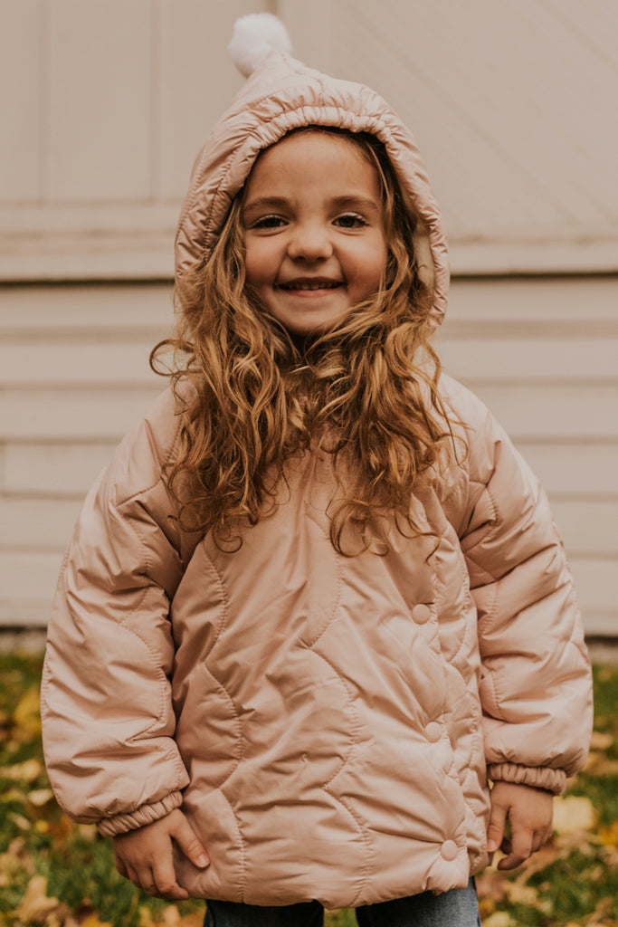 Pale Pink Puffy Jacket | ROOLEE