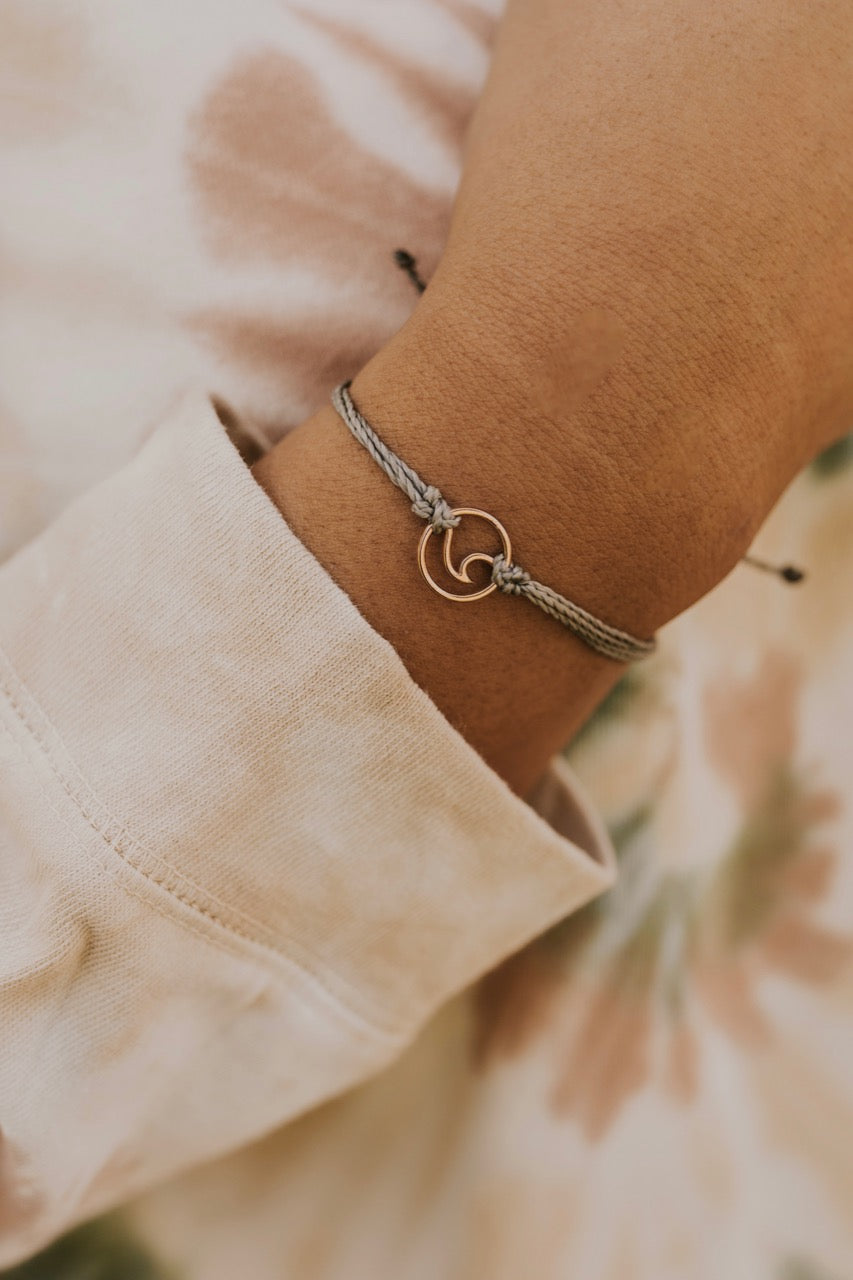 Pura Vida Rose Gold Wave Charm | ROOLEE