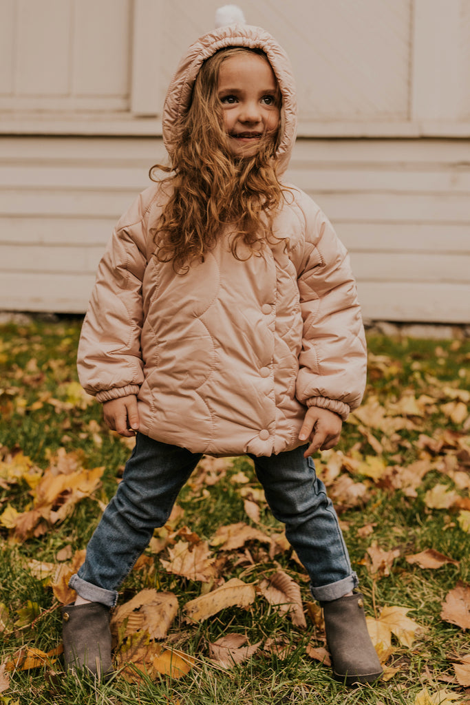 Girls Quilted Jacket | ROOLEE