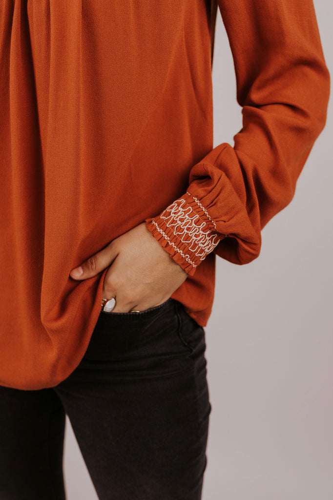 Embroidered Detail Top | ROOLEE