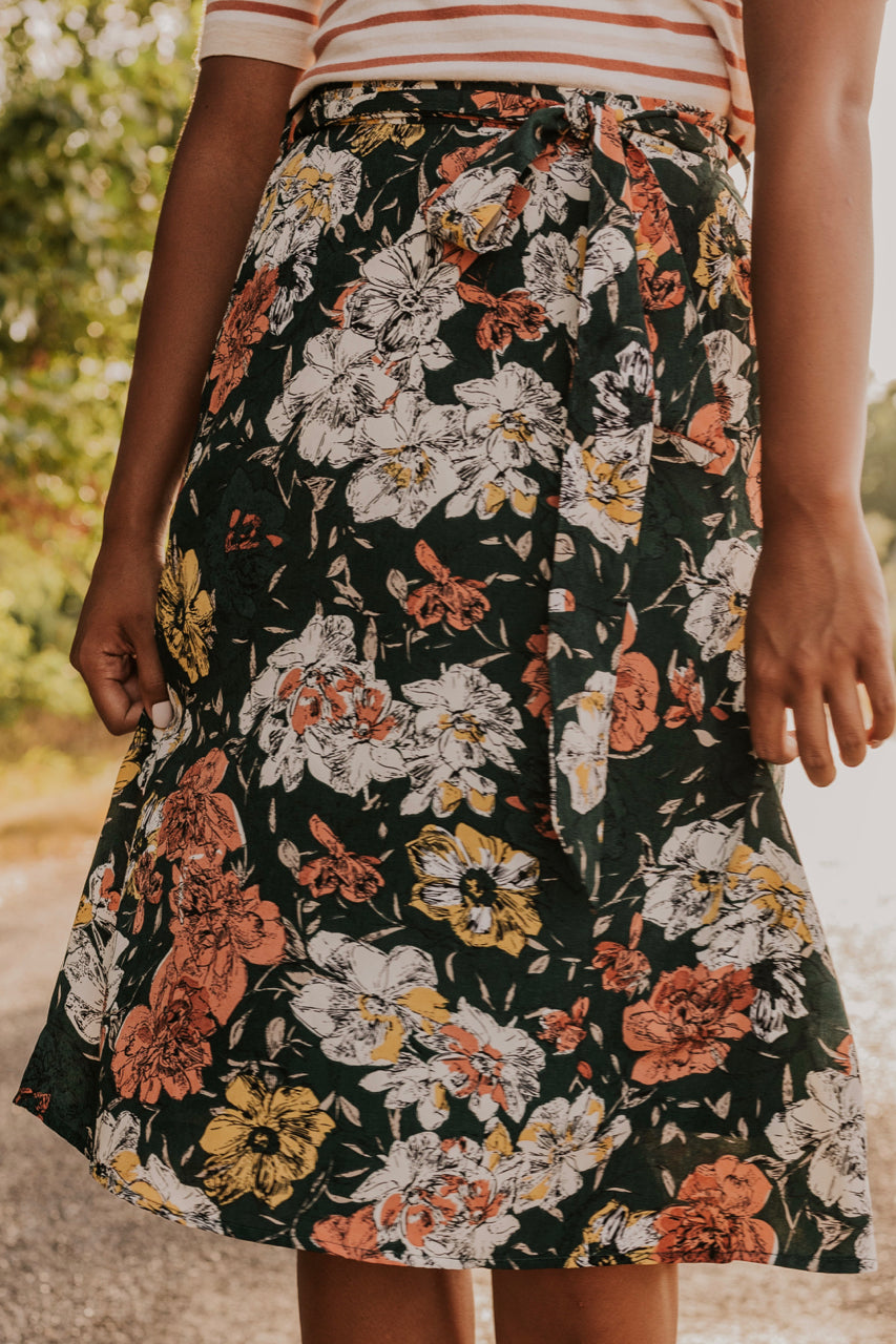 Fall Floral Skirt | ROOLEE