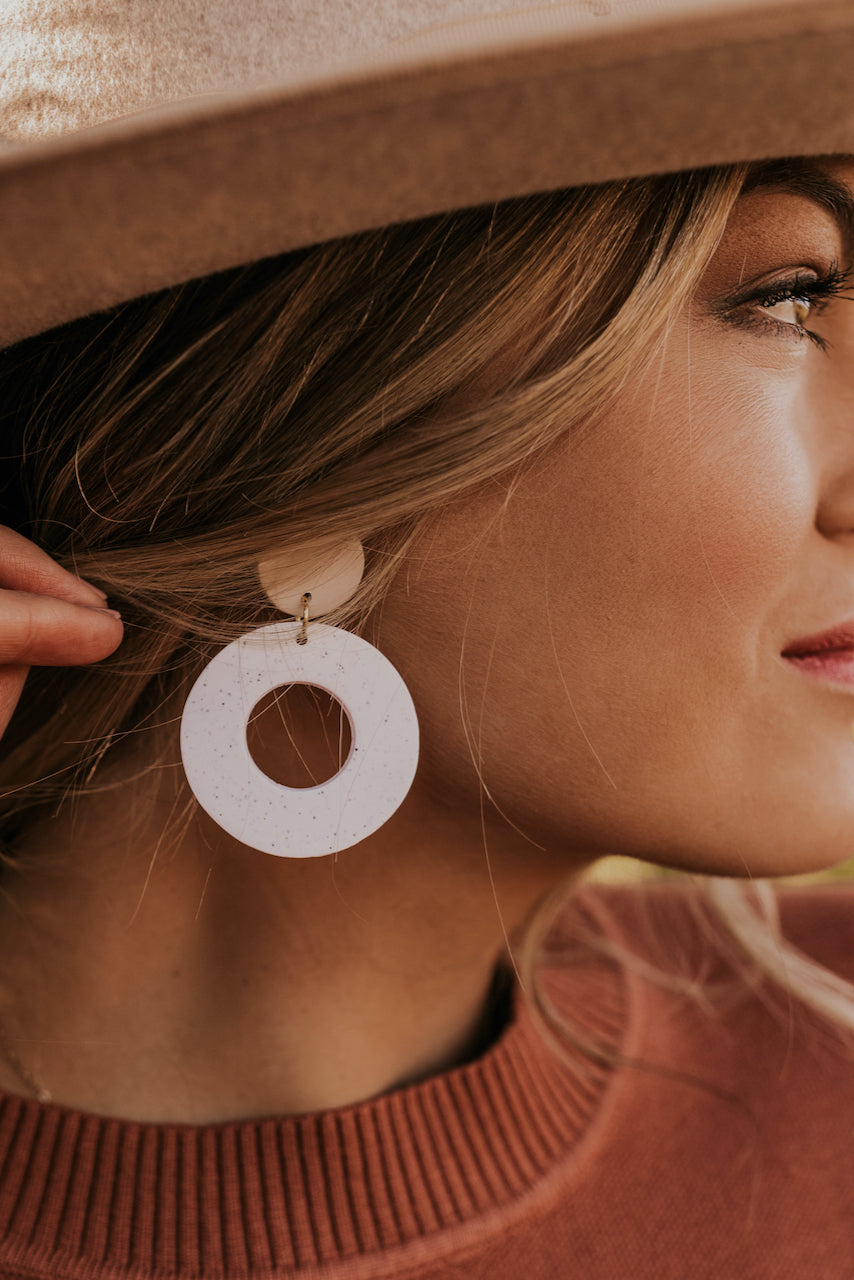 Circle Clay Earrings | ROOLEE