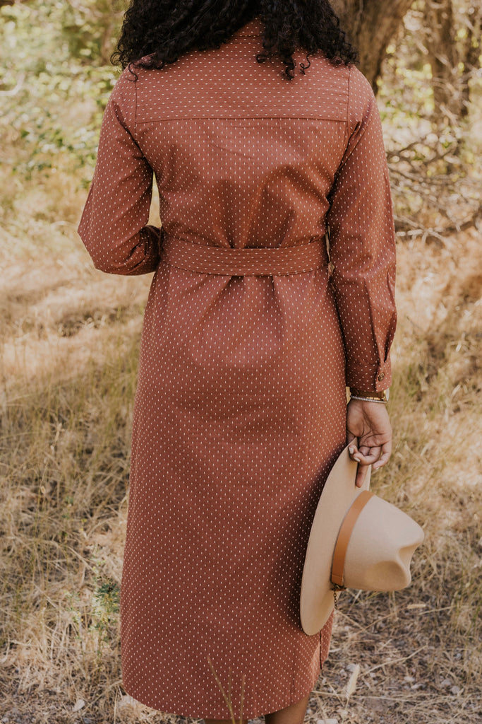 Fall Rust Colored Dress | ROOLEE