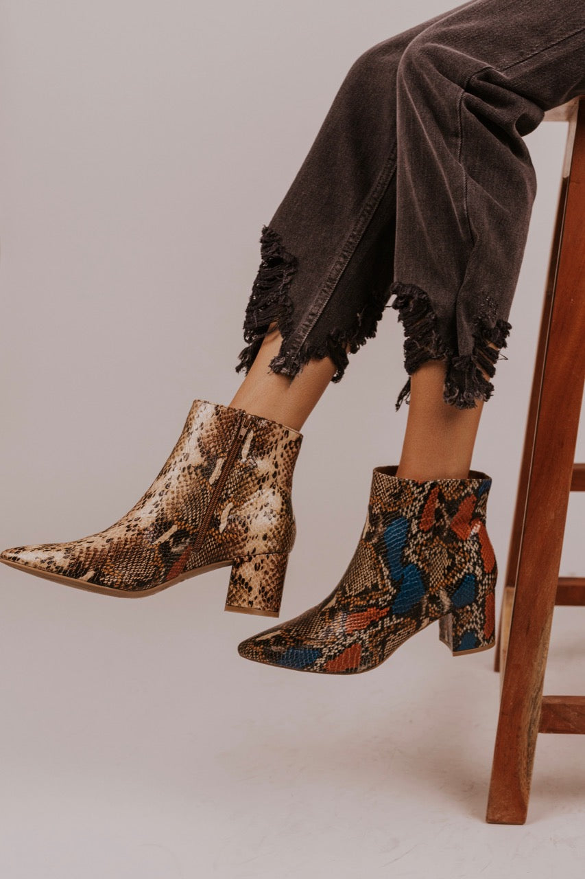 Snake Skin Boots for Fall | ROOLEE
