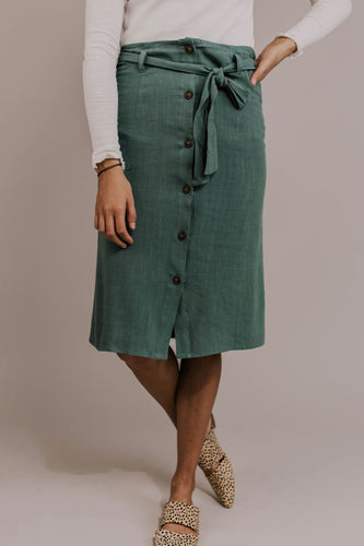 Button Front Skirt | ROOLEE
