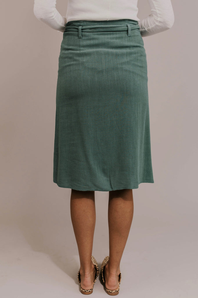 Olive Button Skirt | ROOLEE