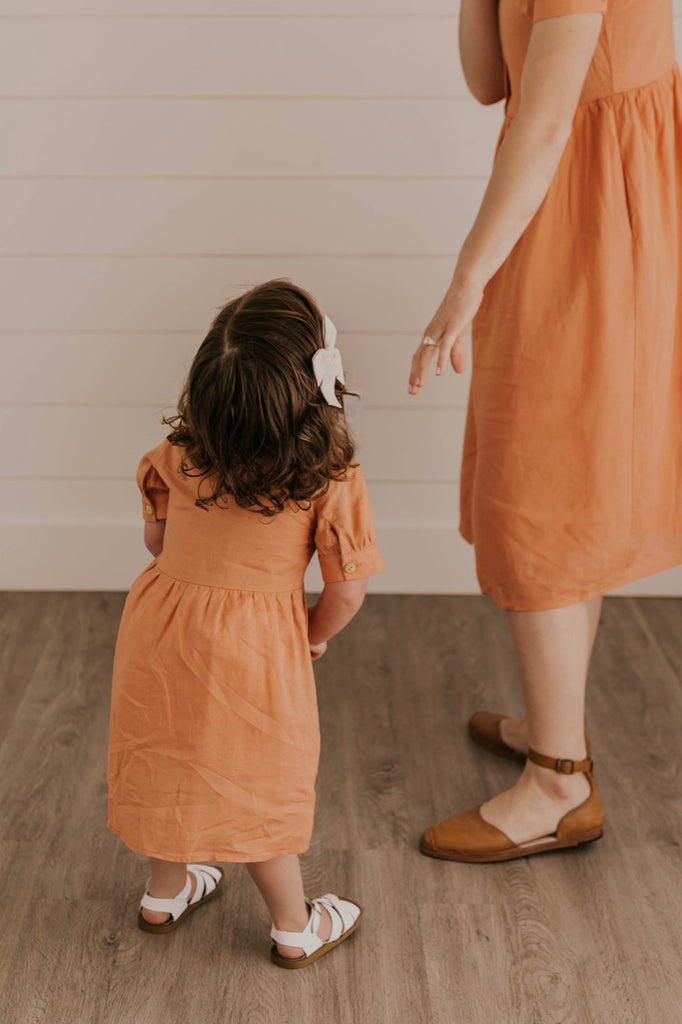 Coral Mommy and Me Dresses | ROOLEE