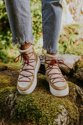 Taupe Hiker Boot for Fall | ROOLEE