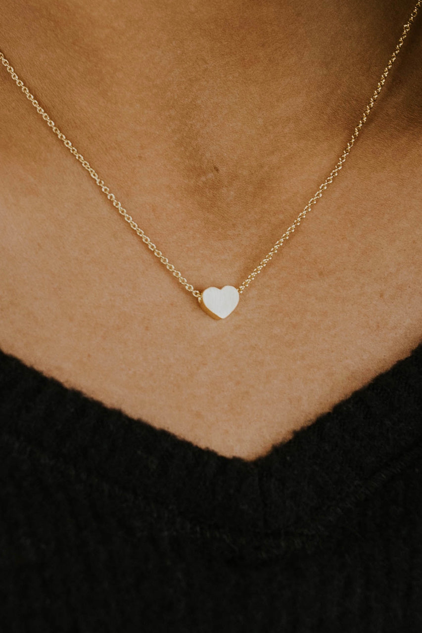 Mini Heart Pendant Gold Plated Necklace | ROOLEE