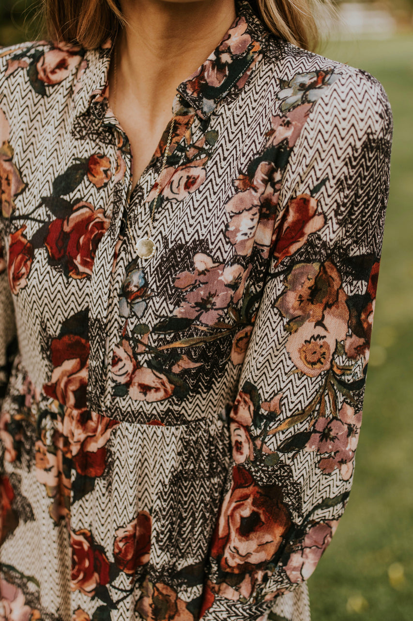Bold Patterned Floral Maxi Dress | ROOLEE