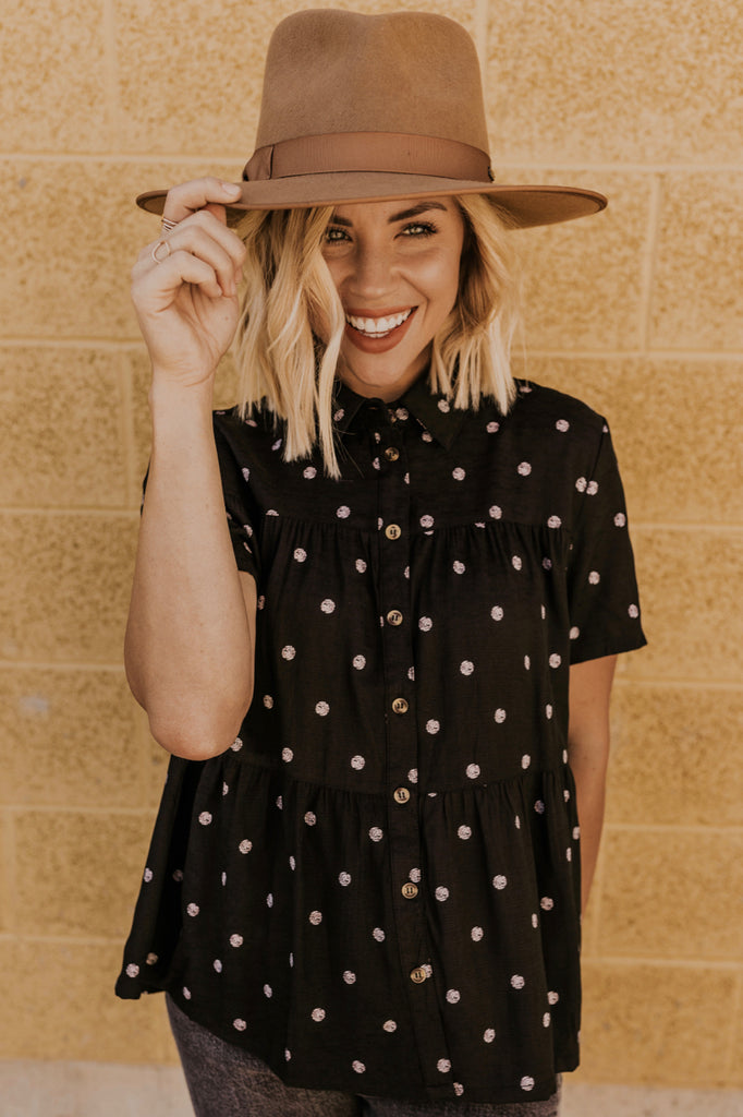Polka Dot Blouse for Women | ROOLEE