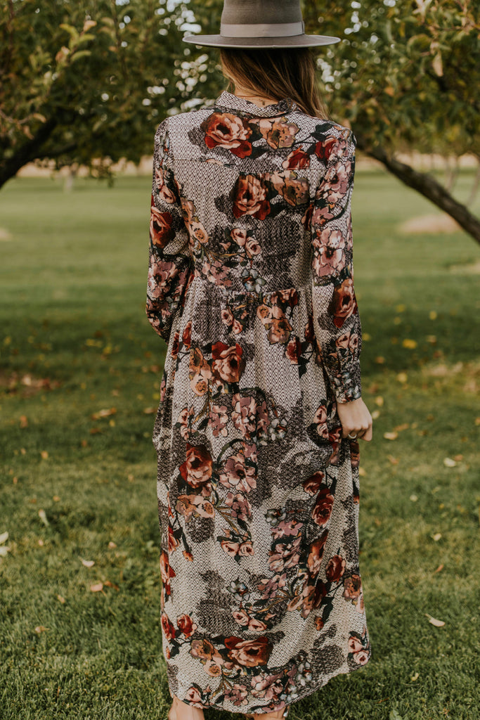 Floral Maxi Dress for Fall | ROOLEE