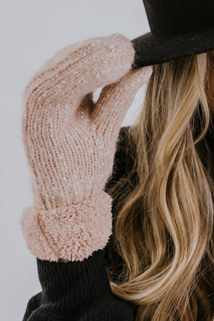 Peach Mittens for Winter | ROOLEE Mittens