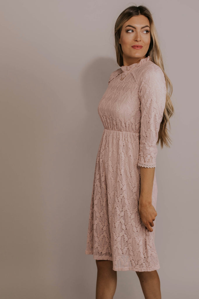 3/4 Sleeve Lace Bridesmaids Dress | ROOLEE