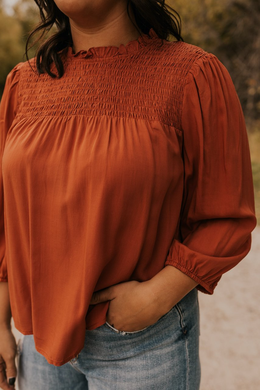 Rust Colored Tops for Women in Winter | ROOLEE