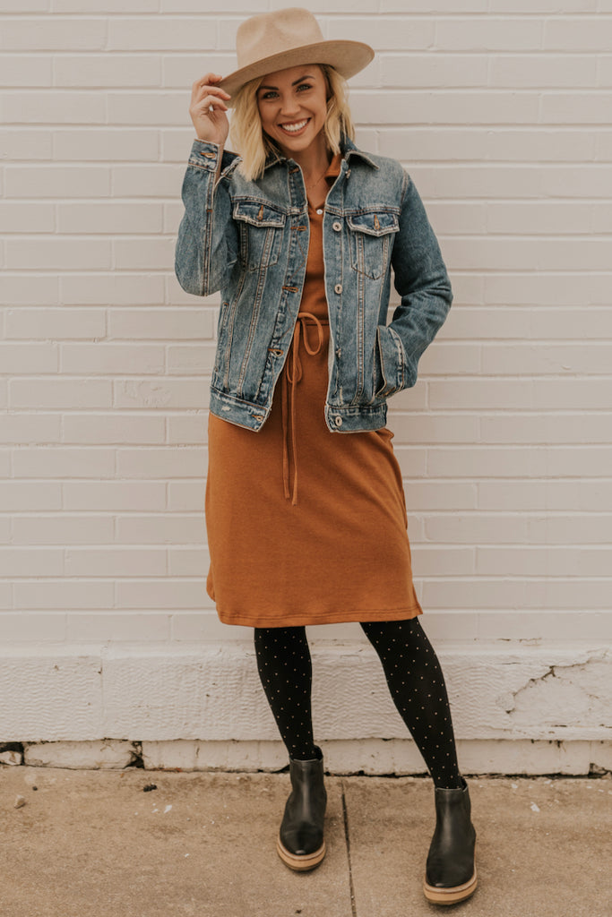 Washed Denim Long Sleeve Jacket | ROOLEE
