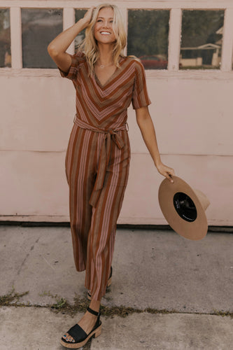 Multi Color Striped Jumpsuit | ROOLEE