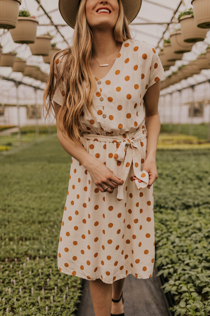 Modest Polka Dot Dress | ROOLEE