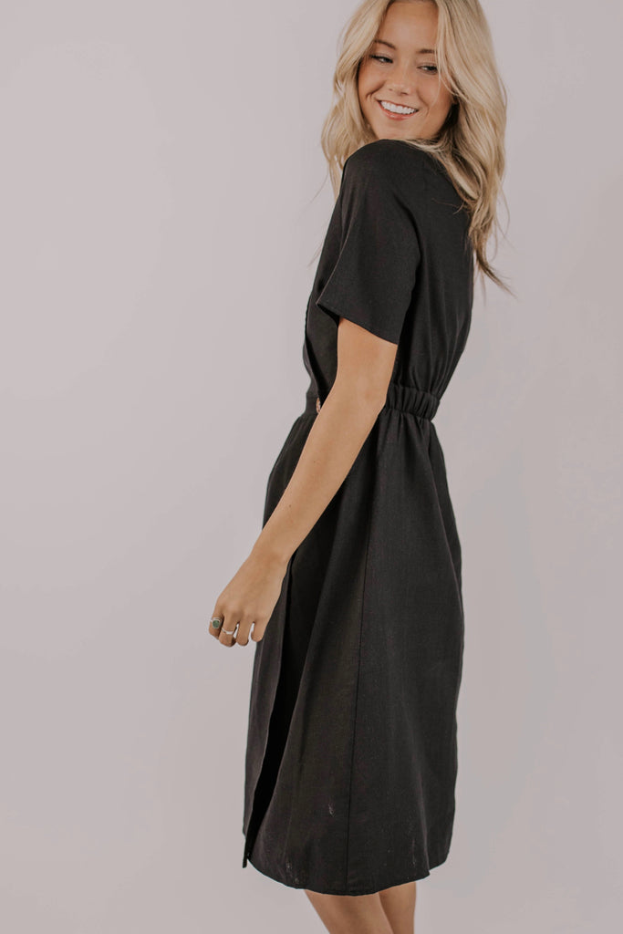 Cute Black Midi Dresses | ROOLEE