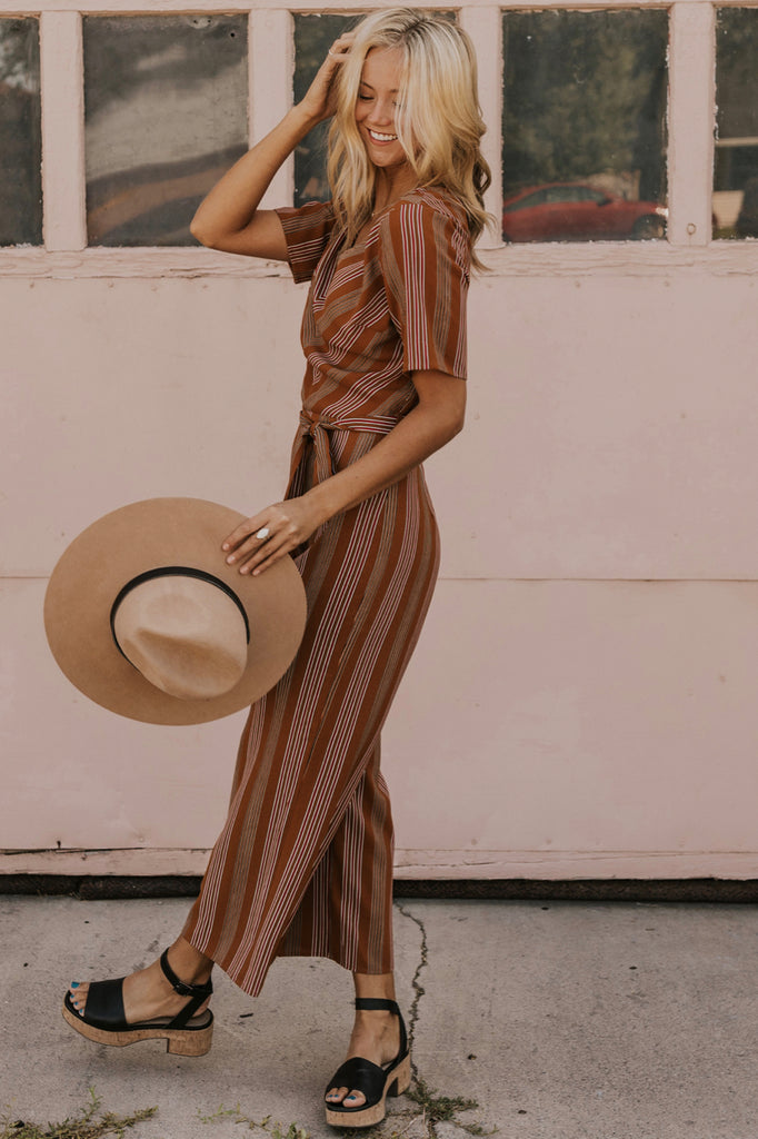 Jumpsuit with Tie Belt | ROOLEE