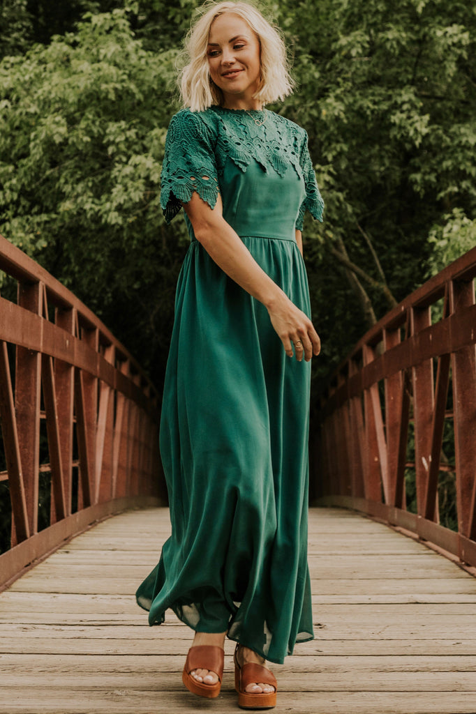 Hunter Green Bridesmaid Dress | ROOLEE