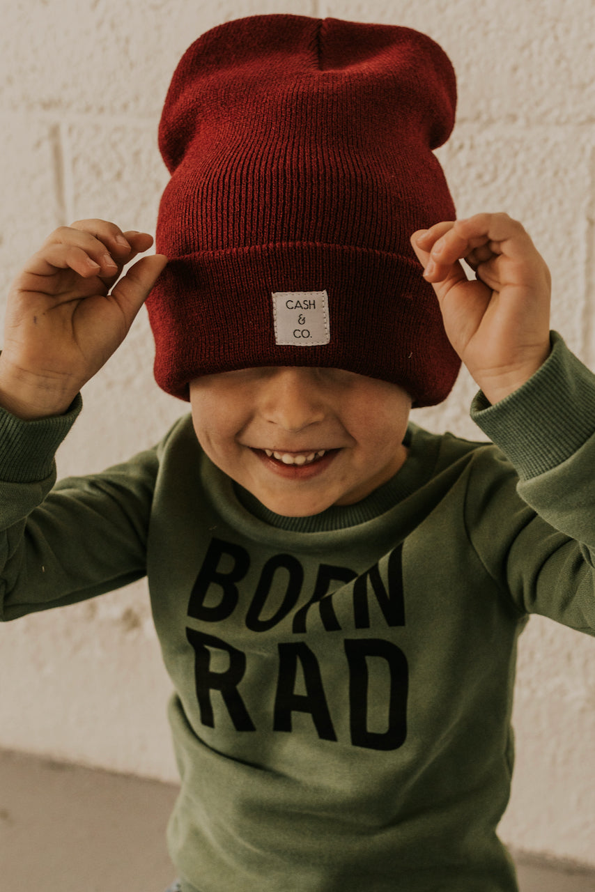 Red Kids Winter Hat | ROOLEE