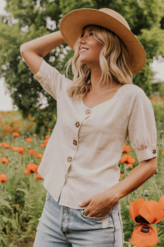 Best Button Front Blouse for Summer | ROOLEE