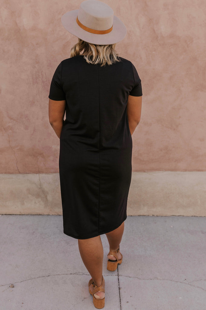 Black Nursing Friendly Dress | ROOLEE