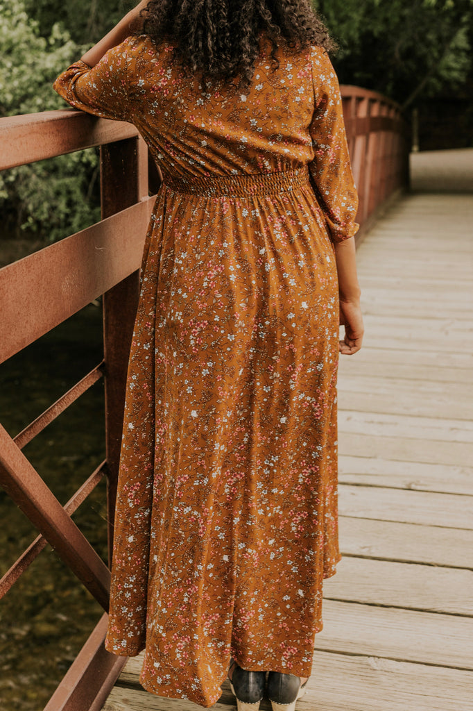 Pink Floral Maxi Dress | ROOLEE