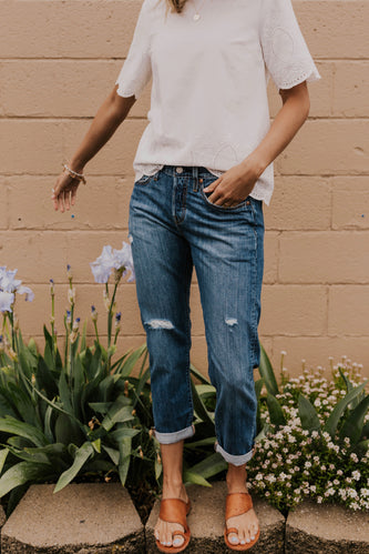 Medium Wash Jean Outfit | ROOLEE