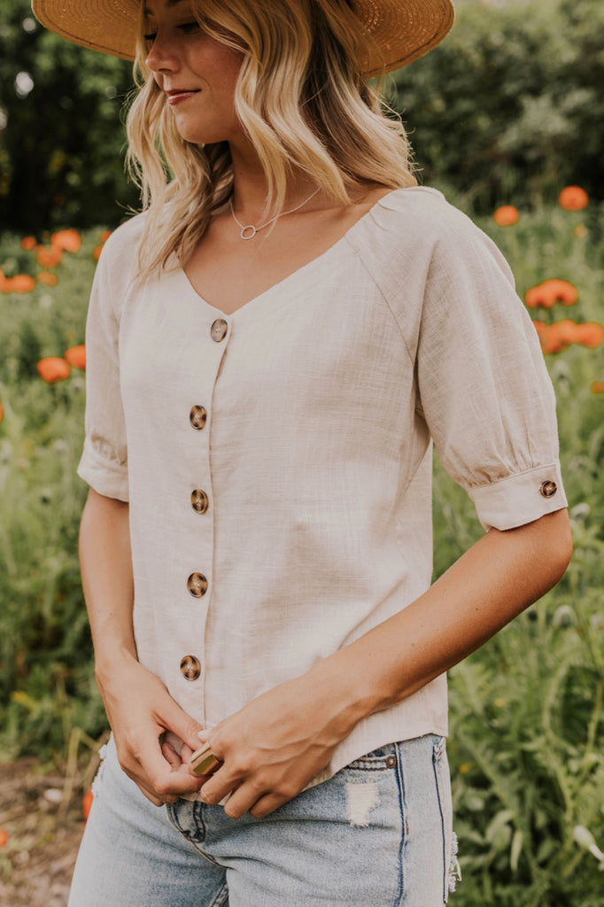 Cute Button Front Blouse | ROOLEE