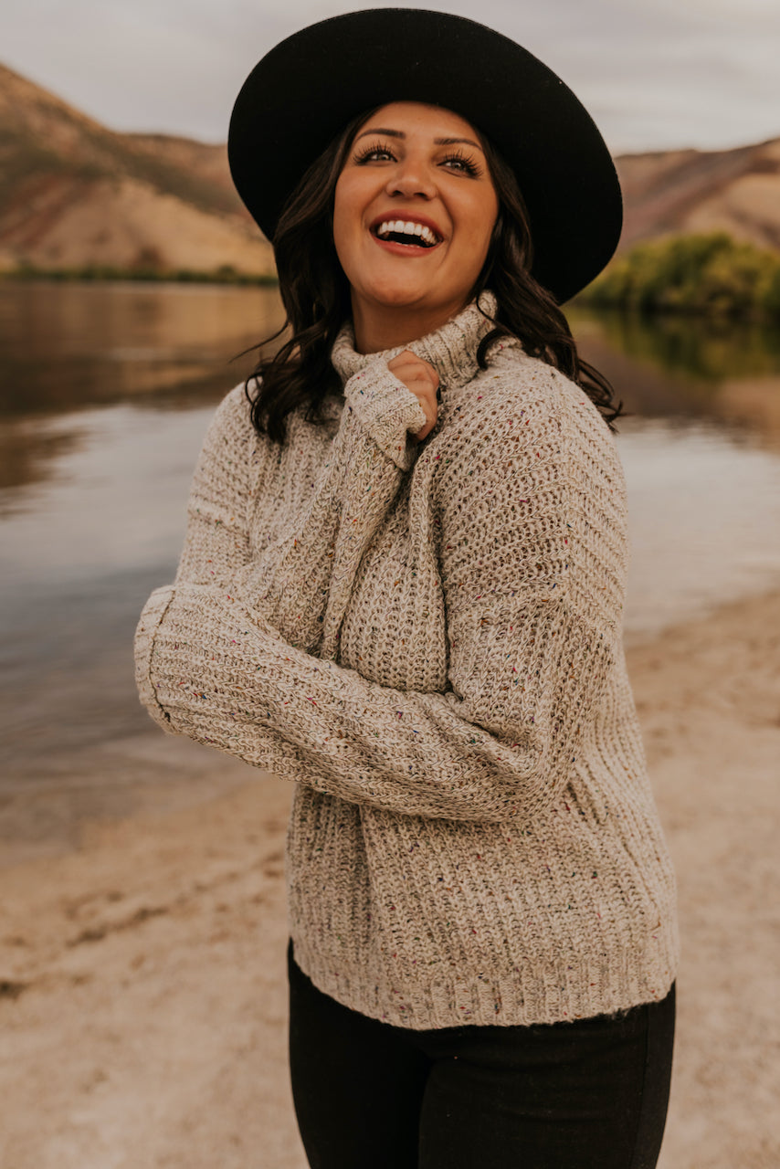 Cozy Knit Turtleneck Sweater for Women | ROOLEE