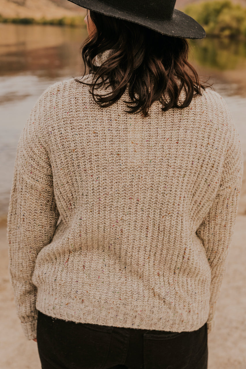 Cream Knit Textured Layering Sweater | ROOLEE